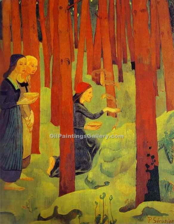The Sacred Forest by PaulSerusier | Oil Paintings For Sale - Oil Paintings Gallery