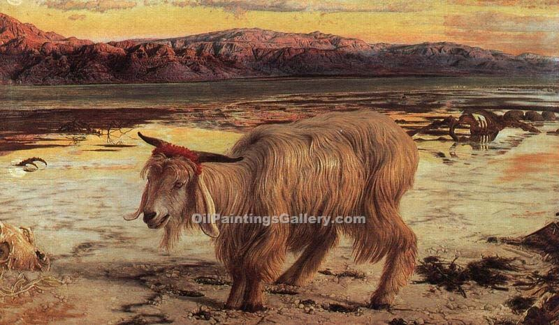 The Scapegoat by William Holman Hunt | Angel Paintings - Oil Paintings Gallery