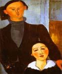 The Sculptor Jacques Lipchitz and His Wife by  Amedeo Modigliani (Painting ID: EI-2042-KA)
