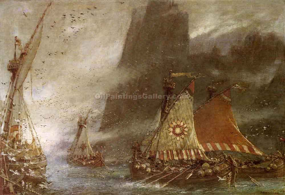 """The Sea Raiders"" by  Albert Goodwin"
