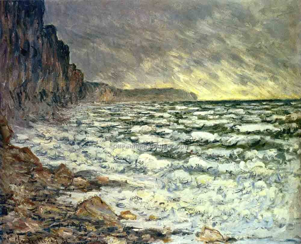 """The Sea at Fecamp"" by  Claude Monet"