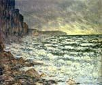 The Sea at Fecamp by  Claude Monet (Painting ID: MO-0900-KA)