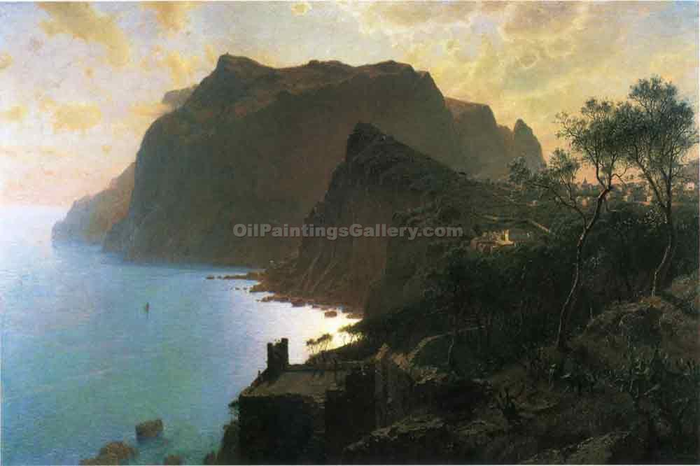 """The Sea from Capri"" by  William Stanley Haseltine"