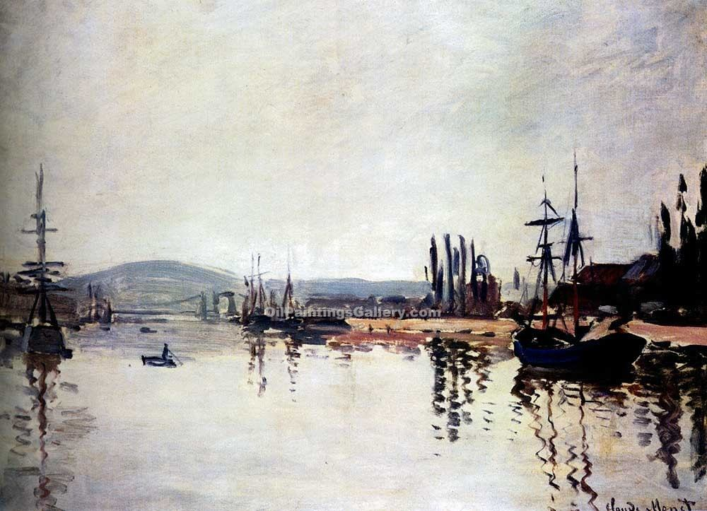 """The Seine Below Rouen"" by  Claude Monet"