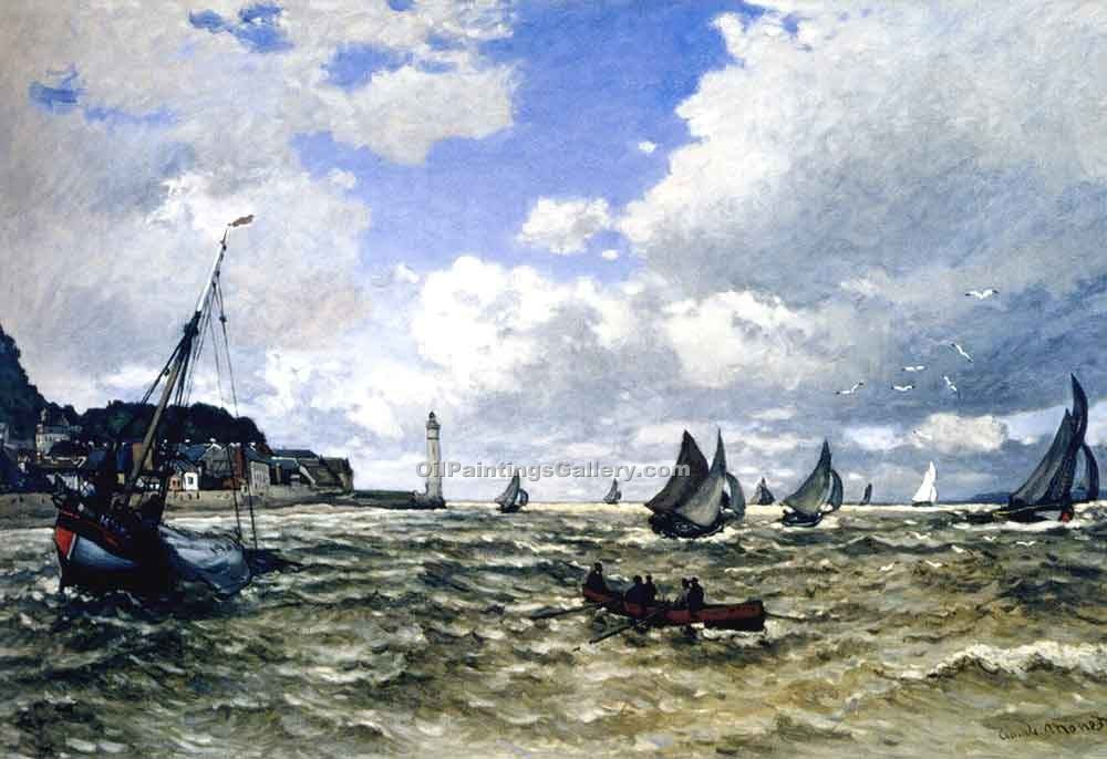 """The Seine Estuary at Honfluer"" by  Claude Monet"