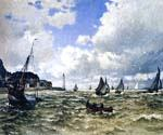 The Seine Estuary at Honfluer by  Claude Monet (Painting ID: MO-0894-KA)
