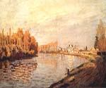 The Seine at Argenteuil 11 by  Claude Monet (Painting ID: MO-0911-KA)