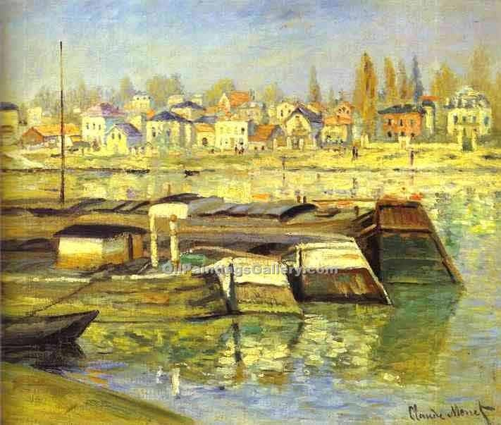 """The Seine at Asnieres"" by  Claude Monet"