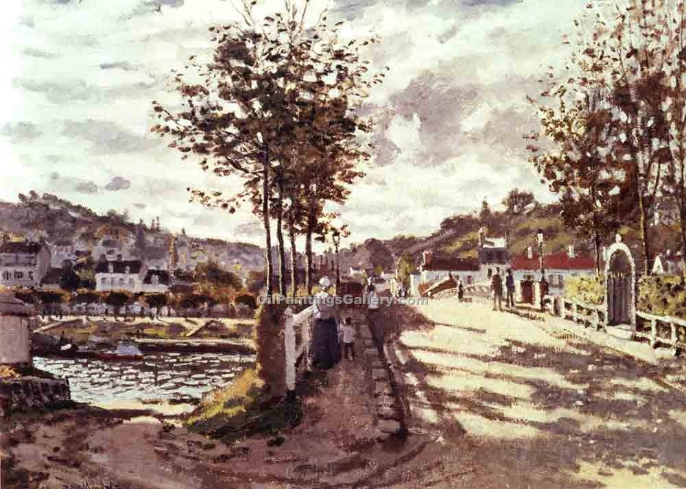"""The Seine at Bougival"" by  Claude Monet"