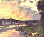 The Seine at Bougival in the Evening1 by  Claude Monet (Painting ID: MO-0915-KA)