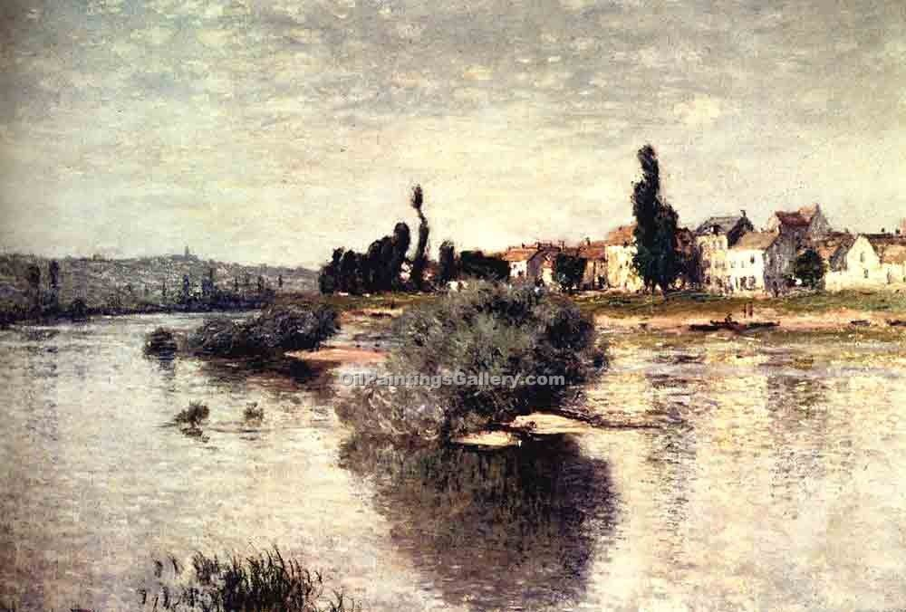 """The Seine at Lavacourt"" by  Claude Monet"