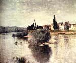 The Seine at Lavacourt by  Claude Monet (Painting ID: MO-0904-KA)