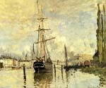 The Seine at Rouen by  Claude Monet (Painting ID: MO-0883-KA)