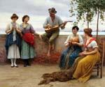 The Serenade 28 by  Eugene de Blaas (Painting ID: EI-0528-KA)