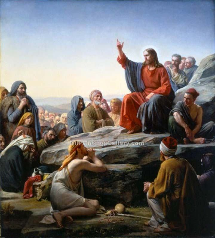 """The Sermon on the Mount"" by  Carl Heinrich Bloch"