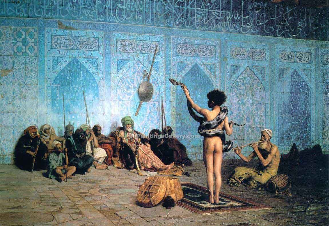 """The Serpent Charmer"" by  Jean Leon Gerome"