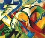 The Sheep by  Franz Marc (Painting ID: AB-0154-KA)