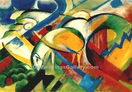 The Sheep by Franz Marc | Impressionism Paintings - Oil Paintings Gallery