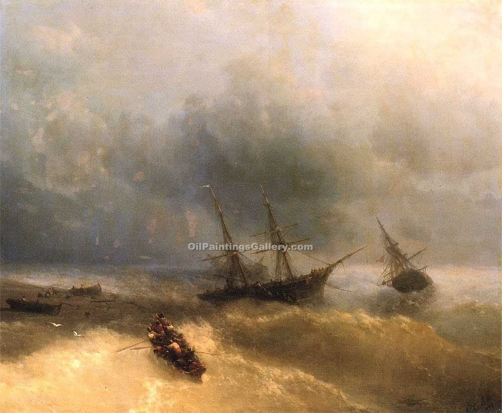 """The Shipwreck"" by  Ivan Aivazovsky"