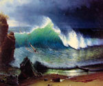 The Shore of the Turquoise Sea by  Albert Bierstadt (Painting ID: LA-3417-KA)