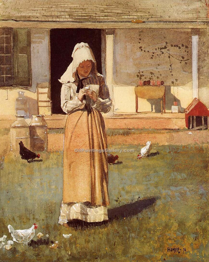 """The Sick Chicken"" by  Winslow Homer"