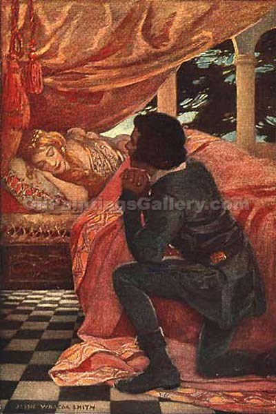 """The Sleeping Beauty"" by  Jessie Willcox Smith"