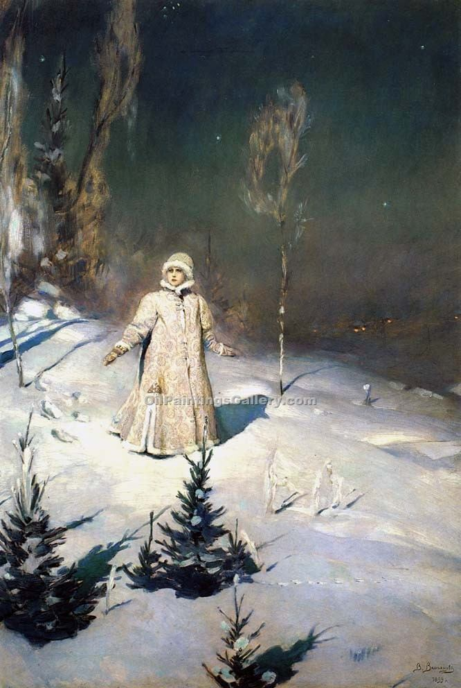 The Snow Maiden by Viktor Mikhailovich Vasnetsov | Best Place To Buy Paintings Online - Oil Paintings Gallery