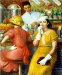 The Soda Fountian by  William Glackens (Painting ID: CL-3192-KA)