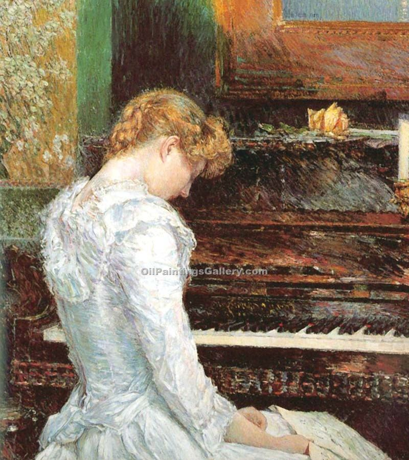 The Sonata by Hassam Frederick Childe | Modern Art Online Gallery - Oil Paintings Gallery