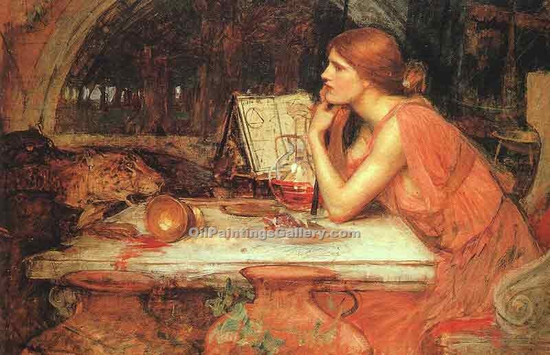 """The Sorceress"" by  John William Waterhouse"
