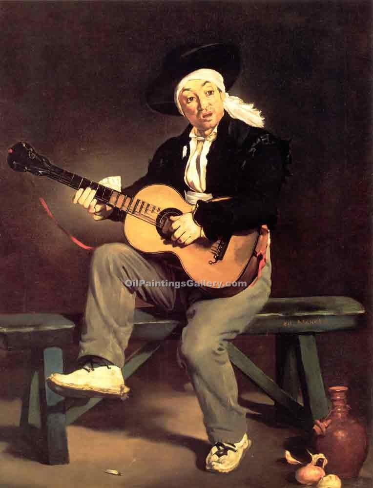 """The Spanish Singer The Guitar Player"" by  Edouard Manet"