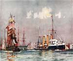 The Speedy Leaving Portsmouth by  Charles Edward Dixon (Painting ID: CI-3121-KA)