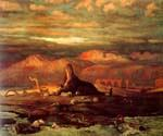 The Sphinx of the Seashore by  Elihu Vedder (Painting ID: CL-0838-KA)