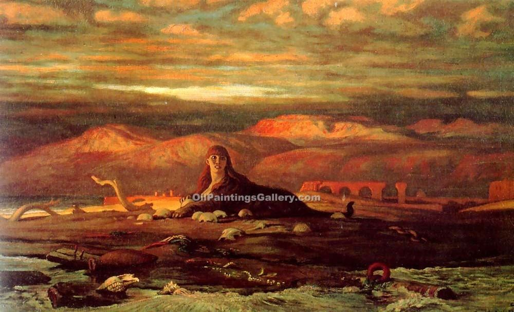 """The Sphinx of the Seashore"" by  Elihu Vedder"