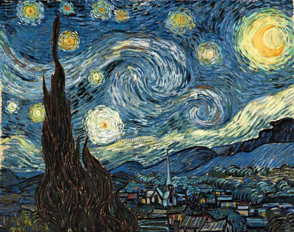 """The Starry Night"" by  Vincent Van Gogh"