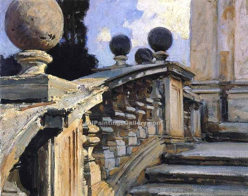 """The Steps of the Church of S. Domenico in Rome"" by  John Singer Sargent"