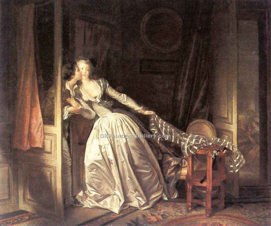 """The Stolen Kiss"" by  Jean Honore Fragonard"