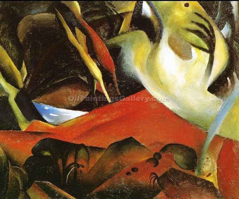 """The Storm 80"" by  August Macke"