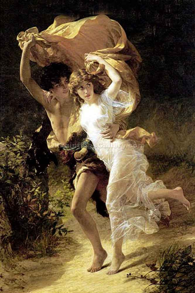 """The Storm 90"" by  Pierre Auguste Cot"