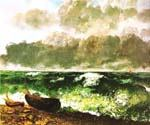 The Stormy Sea or the Wave by  Gustave Courbet (Painting ID: LA-1530-KA)