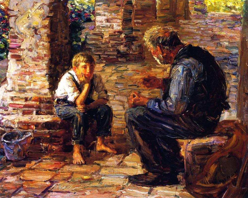 """The Story Teller"" by  Joseph Kleitsch"
