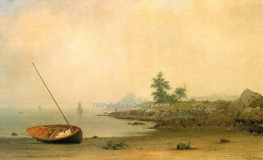 """The Stranded Boat"" by  Martin Johnson Heade"