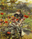 The Summer Roses by  Giovanni Boldini (Painting ID: ED-0481-KA)