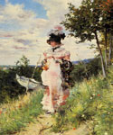 The Summer Stroll by  Giovanni Boldini (Painting ID: ED-0483-KA)