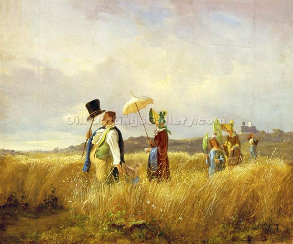 The Sunday Walk by CarlSpitzweg | Where To Buy Art - Oil Paintings Gallery