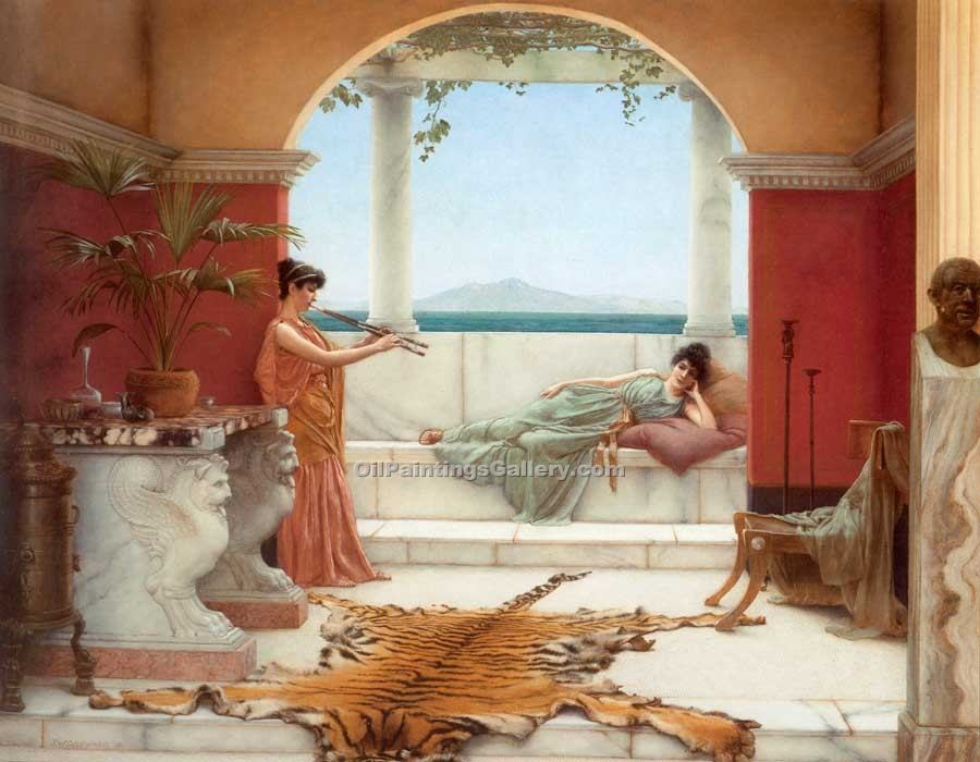 """The Sweet Siesta of a Summer Day"" by  John William Godward"