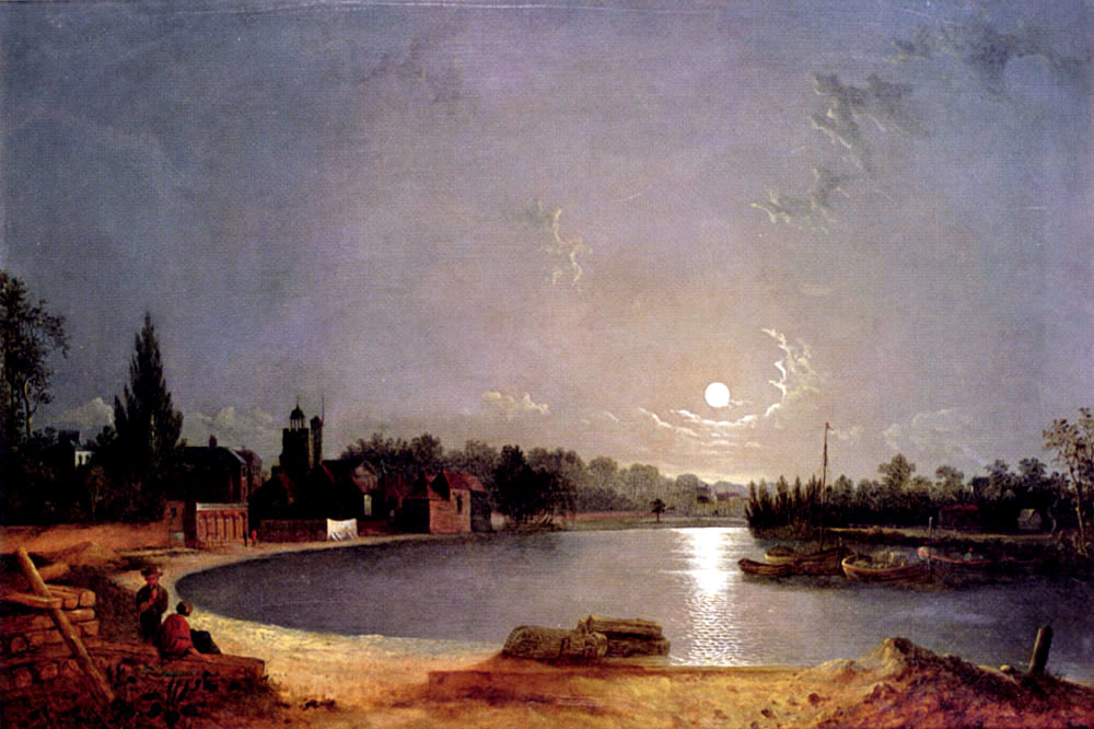 """The Thames at Midnight, Twickenham"" by  Henry Pether"