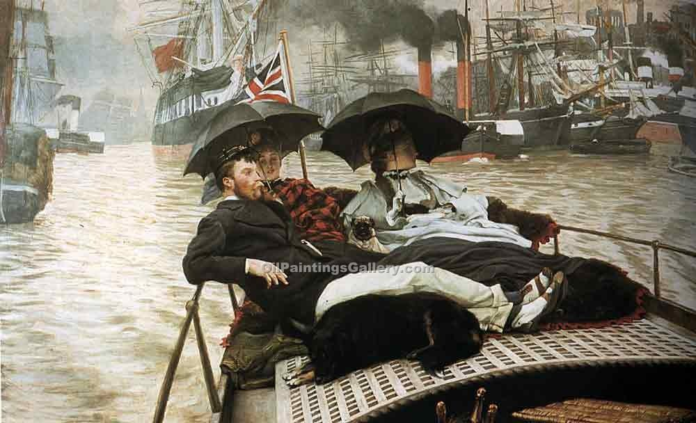 """The Thames"" by  James Tissot"