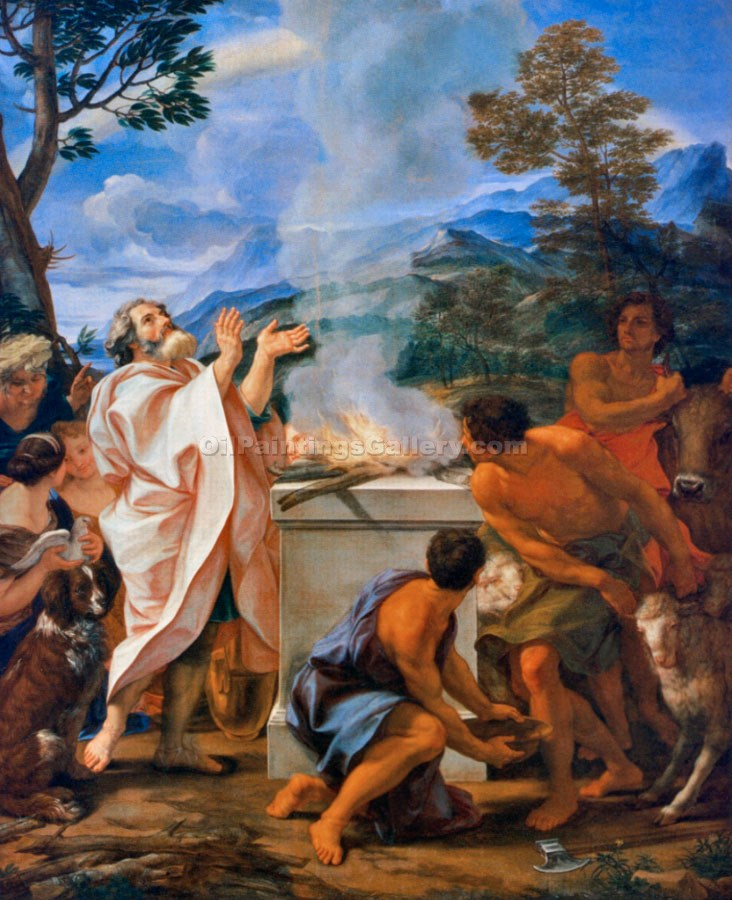 """The Thanksgiving of Noah"" by  Baciccio"