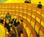 The Third Gallery at the Theatre du Chalet by  Felix Vallotton (Painting ID: EI-0863-KA)